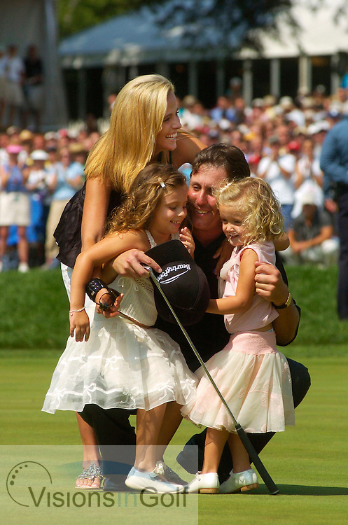Phil Mickelson with family<br /> <br /> 2005 PGA
