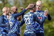 23-04-2016: Voetbal: Sportlust'46 v Zwaluwen: Woerden<br /> <br /> Jarno Reurink (23) van vv Zwaluwen viert zijn doelpunt<br /> <br /> Foto: Gertjan Kooij