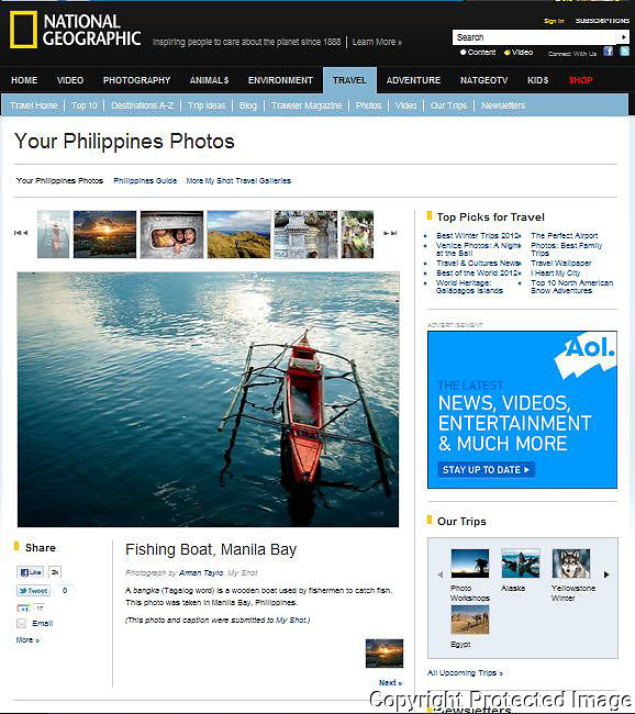 National Geographic Travel Website