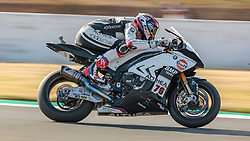 September 28, 2018 - 76, Loris Baz, FRA, BMW S 1000 RR, GULF ALTHEA BMW Racing Team, SBK 2018, MOTO - SBK Magny-Cours Grand Prix 2018, Free Practice 3, 2018, Circuit de Nevers Magny-Cours, Acerbis French Round, France ,September 28 2018, action during the SBK Free Practice 3 of the Acerbis French Round on September 28 2018 at Circuit de Nevers Magny-Cours, France (Credit Image: © AFP7 via ZUMA Wire)