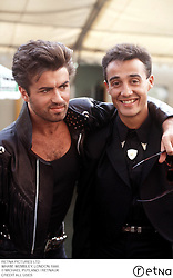 February 26, 2011 - London, England, United Kingdom - GEORGE MICHAEL AND ANDREW RIDGELEY..WHAM, WEMBLEY, LONDON 1986...© MICHAEL PUTLAND / RETNAUK..CREDIT ALL USES (Credit Image: © Avalon via ZUMA Press)