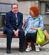 05/05/2011. Alex Salmond - Polling Day feature...Chatting to in the centre of Aberdeen with smoker Gina Kennedy....Pic:Andy Barr.07974 923919  (mobile).andy_snap@mac.com.All pictures copyright Andrew Barr Photography. .Please contact before any syndication. .