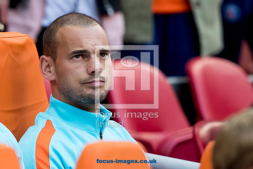 Wesley Sneijder of Netherlands starts on the bench before the 2018 FIFA World Cup Qualifying match at Amsterdam Arena, Amsterdam<br /> Picture by Joep Joseph Leenen/Focus Images Ltd +316 5261929<br /> 03/09/2017<br /> ***NETHERLANDS OUT***