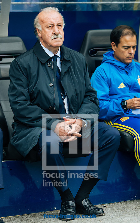 Head coach Vicente del Bosque of Spain during the International Friendly match at Red Bull Arena, Salzburg<br /> Picture by EXPA Pictures/Focus Images Ltd 07814482222<br /> 01/06/2016<br /> ***UK &amp; IRELAND ONLY***<br /> (filename}
