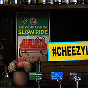 Ms. Cheezious supports their specialty by displaying the hash tag #CHEEZYLOVE. (photo by Lia Latty).