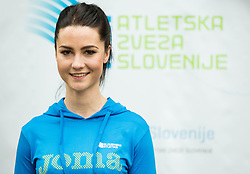 Nina Djordjevic during press conference when Slovenian athletes and their coaches sign contracts with Athletic federation of Slovenia for year 2016, on February 25, 2016 in AZS, Ljubljana, Slovenia. Photo by Vid Ponikvar / Sportida