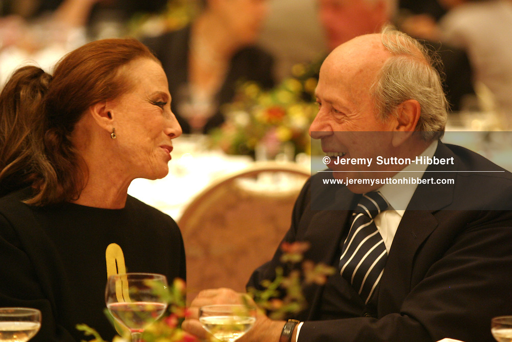 Russian dancer Maya Plisteskaya (on left) talks with former Prime Minister of Italy Lamberto Dini, during an informal meal celebrating the 2006 Praemium Imperiale art awards, in the Meiji-Jingu shinto shrine, Tokyo, Japan, on Tuesday, Oct. 17,  2006. The five laureates in 2006 were internationally renowned Japanese artist Kusama Yayoi, French sculptor Christian Boltanski, German architect Frei Otto, American musician Steve Reich, and Russian dancer ballerina Maya Plisetskaya. All receive an honorarium of 15 million Yen, and a medal. The Japan Art Association, giver of the awards, is the oldest cultural foundation in Japan, established in 1887. The laureates are chosen each year by an international jury, from a list of nominees put forward by advisors. The awards are held annually in Tokyo in the presence of Prince and Princess Hitachi.