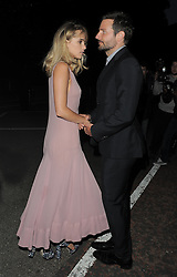 Suki Waterhouse and Bradley Cooper leaving the Serpentine Gallery Summer Party in Hyde Park, London, UK. 01/07/14<br />