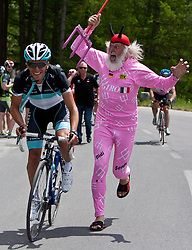 20-05-2011 WIELRENNEN: GIRO D ITALIA: LIENZ<br /> Thomas Rohregger and Giro Teufel Didi Senft during Giro d Italia<br /> *** NETHERLANDS ONLY***<br /> ©2011-FotoHoogendoorn.nl/EXPA/J. Groder