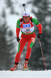 Rustam Valiullin (BLR) at Men 20 km Individual at E.ON Ruhrgas IBU World Cup Biathlon in Hochfilzen (replacement Pokljuka), on December 18, 2008, in Hochfilzen, Austria. (Photo by Vid Ponikvar / Sportida)