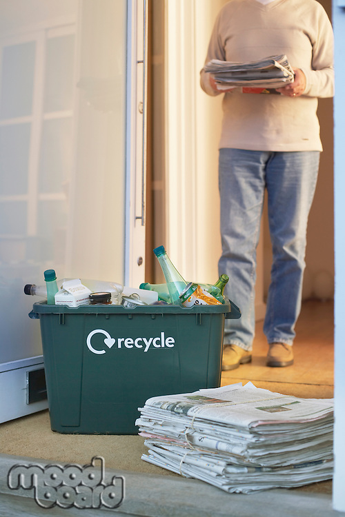 Man Collecting Recycleables