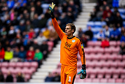 Christian Walton of Wigan Athletic - Mandatory by-line: Robbie Stephenson/JMP - 14/04/2019 - FOOTBALL - DW Stadium - Wigan, England - Wigan Athletic v Norwich City - Sky Bet Championship