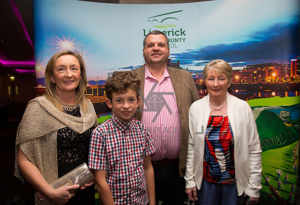 11.10.2016         <br /> Pictured at the Grand Final of the Limerick Going for Gold 2016 Awards were, Ide, Thomas and John Roche with Nellie Barrett, Newcastle West. Picture: Alan Place