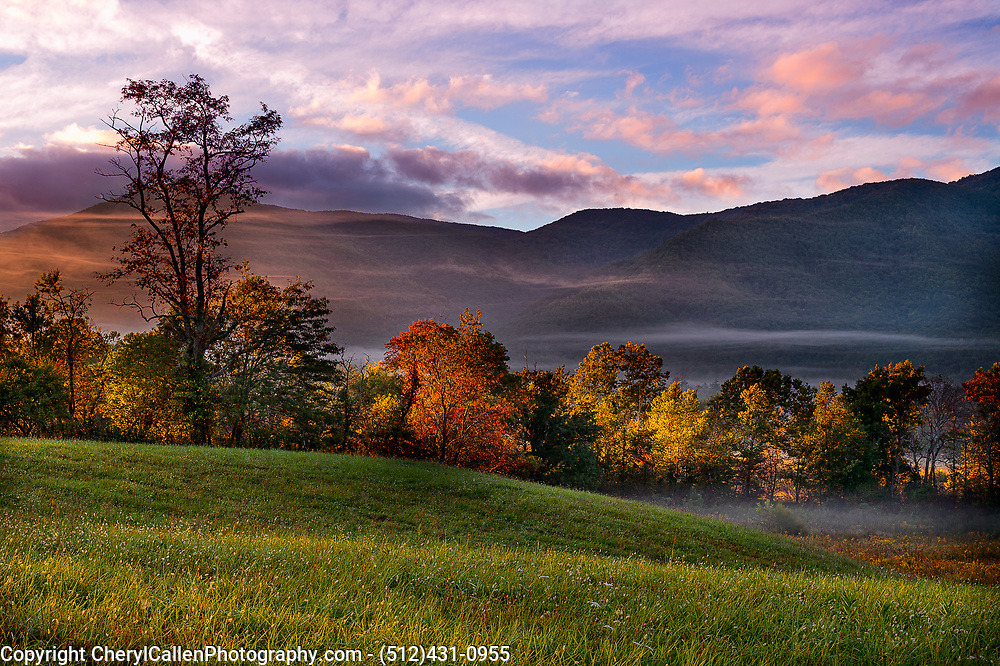 Cade's Cove in The Great Smokey Mountains in the Fall