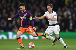 09.04.2019, White Hart Lane, London, ENG, UEFA CL, Tottenham Hotspur vs Manchester City, Viertelfinale, Hinspiel, im Bild David Silva of Manchester City and Harry Winks of Tottenham Hotspur // David Silva of Manchester City and Harry Winks of Tottenham Hotspur during the UEFA Champions League quarterfinals, 1st leg match between Tottenham Hotspur and Manchester City at the White Hart Lane in London, England on 2019/04/09. EXPA Pictures © 2019, PhotoCredit: EXPA/ Focus Images/ Martyn Haworth<br /> <br /> *****ATTENTION - for AUT, GER, FRA, ITA, SUI, POL, CRO, SLO only*****