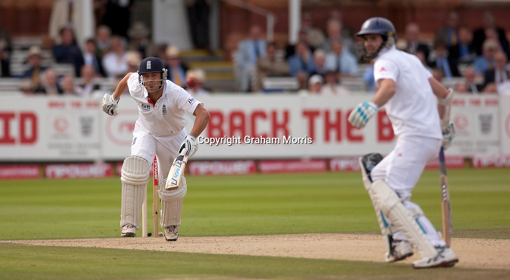 Jonathan Trott bats during his century in the final npower Test Match between England and Pakistan at Lord's.  Photo: Graham Morris (Tel: +44(0)20 8969 4192 Email: sales@cricketpix.com) 28/08/10