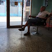 A old barber shop in Puentes Grandes