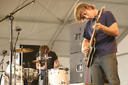 Jun 11, 2004; Manchester, TN, USA; The Black Keys featuring Dan Auerbach (vocals/guitar) and Patrick Carney (drums) performing at Bonnaroo 2004. Mandatory Credit: Photo by Bryan Rinnert/3Sight Photography