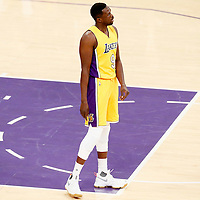 15 November 2016: Los Angeles Lakers forward Luol Deng (9) is seen during the LA Lakers 125-118 victory over the Brooklyn Nets, at the Staples Center, Los Angeles, California, USA.