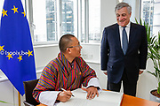 Visit of the prime minister of Bhutan. <br /> Meeting