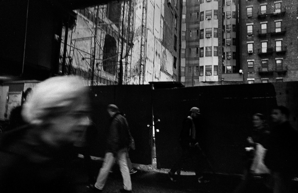 "Construction in Midtown...Part of long-term (2005-2008) story ""I See A Darkness"". New York, NY."