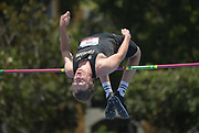 Jun 23, 2019; Miramar, FL, USA; Jeremy Cody of Colorado places second in the high jump at 6-9 3/4 (2.08m) during the USATF U20 Championships at Ansin Sports Complex.