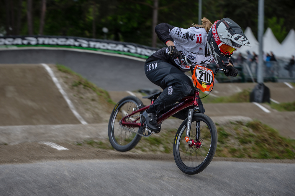 #210 (CHRISTENSEN Simone Tetsche) DEN during round 3 of the 2017 UCI BMX  Supercross World Cup in Zolder, Belgium,