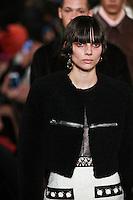 Charlee Fraser walks the runway wearing Alexander Wang Fall 2016 during New York Fashion Week on February 13, 2016