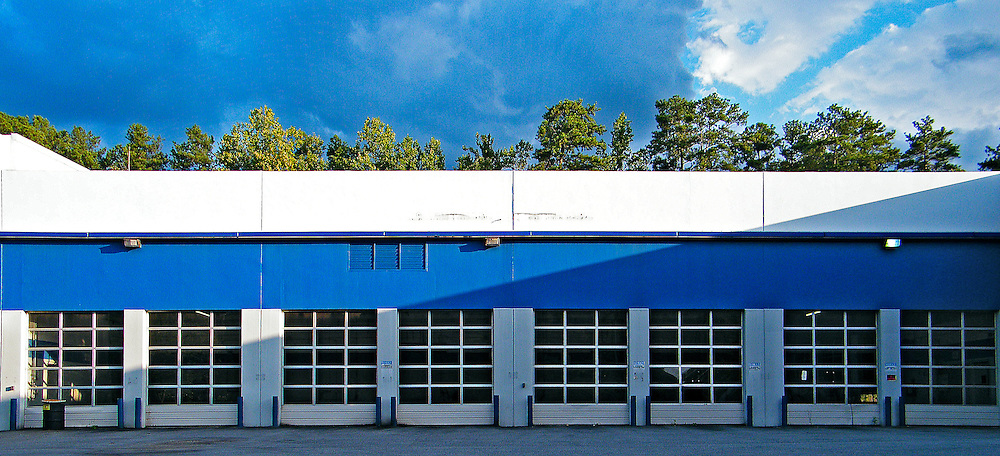 Auto repair shop garage doors