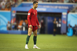 June 25, 2018 - Na - Saransk, 06/25/2018 - The national team of Portugal faced Iran today in the Group B match in the final round of the 2018 World Cup in Mordovia Arena. Cristiano Ronaldo  (Credit Image: © Atlantico Press via ZUMA Wire)
