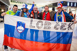 Fans during handball match between National teams of Slovenia and Montenegro on Day 5 in Preliminary Round of Men's EHF EURO 2018, on January 17, 2018 in Arena Zagreb, Zagreba, Croatia. Photo by Ziga Zupan / Sportida