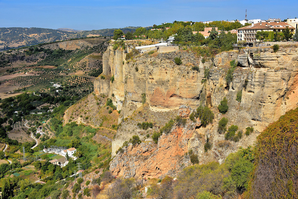 El Tajo Gorge in Ronda, Spain<br />