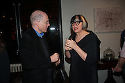 ALAIN DE BOTTON; PHILIPPA PERRY, The Culture Whisper Launch party. Royal College of art. Royal College of Art, Kensington Gore. London. 28 January 2014