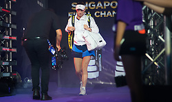October 21, 2018 - Kallang, SINGAPORE - Caroline Wozniacki of Denmark on her way to the court for her first match at the 2018 WTA Finals tennis tournament (Credit Image: © AFP7 via ZUMA Wire)