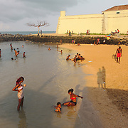 Beach day by the São Sebastião fort.