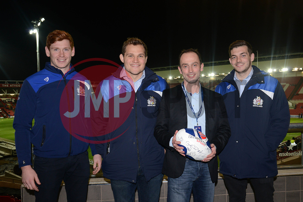 Match Ball sponsor - Mandatory byline: Dougie Allward/JMP - 22/01/2016 - RUGBY - Ashton Gate -Bristol,England - Bristol Rugby v Ulster Rugby - B&I Cup