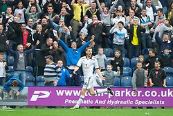 PRESTON, ENGLAND - Saturday, September 24, 2011: Preston North End's Danny Maynor celebrates scoring the second goal against Tranmere Rovers during the Football League One match at Deepdale. (Pic by Dave Kendall/Propaganda)