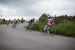 Clara Koppenburg (GER) of Cervélo-Bigla Cycling Team leads the break on a descent during the Aviva Women's Tour 2016 - Stage 3. A 109.6 km road race from Ashbourne to Chesterfield, UK on June 17th 2016.