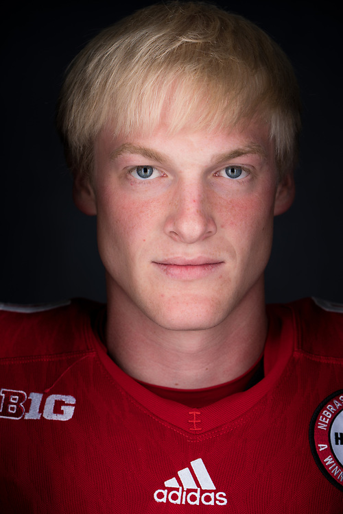 GABE RAHN #81 during a portrait session at Memorial Stadium in Lincoln, Neb. on June 7, 2017. Photo by Paul Bellinger, Hail Varsity