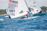 World Sailing Emerging Nations Program - Boca Chica Sailing Club, Santo Domingo 08/19/2017 - DAY 2 - Jalese Gordon from Antigua in action during the competition