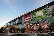 Oct. 5 2011; Phoenix, AZ, USA; Exterior view of Chase Field prior to game four of the 2011 NLDS between the Milwaukee Brewers and Arizona Diamondbacks. Mandatory Credit: Jennifer Stewart-US PRESSWIRE