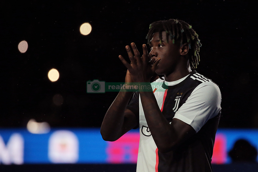May 19, 2019 - Turin, Turin, Italy - Moise Kean #18 of Juventus FC looks on  during the serie A match between Juventus FC and Atalanta BC at Allianz Stadium on May 19, 2019 in Turin, Italy. (Credit Image: © Giuseppe Cottini/NurPhoto via ZUMA Press)