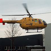 Ongeval Trauma heli Life Line one Kabelweg Schaap Huizen