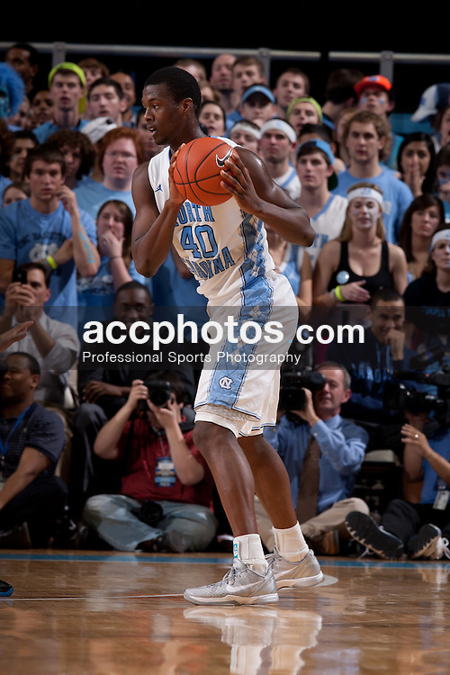 CHAPEL HILL, NC - FEBRUARY 08: Harrison Barnes #40 of the North Carolina Tar Heels controls the ball during a game against the Duke Blue Devils on February 08, 2012 at the Dean E. Smith Center in Chapel Hill, North Carolina. North Carolina lost 84-85. (Photo by Peyton Williams/UNC/Getty Images) *** Local Caption *** Harrison Barnes