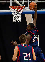 November 30, 2009; San Jose, CA, USA;  Saint Mary's Gaels guard Wayne Hunter (24) grabs a rebound during the second half against the San Jose State Spartans at the Event Center Arena.  Saint Mary's defeated San Jose State 78-71.