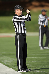 20 October 2012:  Line Judge Kris Van Meter during an NCAA Missouri Valley Football Conference football game between the Missouri State Bears and the Illinois State Redbirds at Hancock Stadium in Normal IL