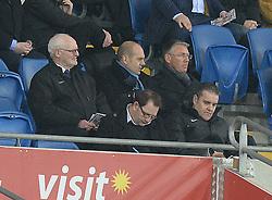 Nigel Adkins (right) watches on inside the Cardiff city stadium.   - Photo mandatory by-line: Alex James/JMP - Mobile: 07966 386802 - 17/02/2015 - SPORT - Football - Cardiff - Cardiff City Stadium - Cardiff City v Blackburn Rovers - Sky Bet Championship