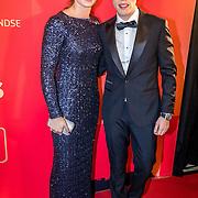 NLD/Amsterdam/20161221 - NOC*NSF Sportgala 2016, Dafne Schippers en partner Nicky Romero