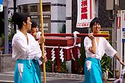 The Tenjin Festival (Tenjin Matsuri) in Osaka.