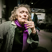 Kris Rowell from of the Isle of Hoy, Christian hermit and artist. Chatting over a shandy in the Royal British Legion club, Stromness.<br /> ©Damian Shields/The Economist/1843 Magazine